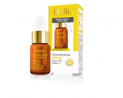 Arc- és nyakszérum liposzomás C-vitaminnal – bőrvilágosító hatással-delia